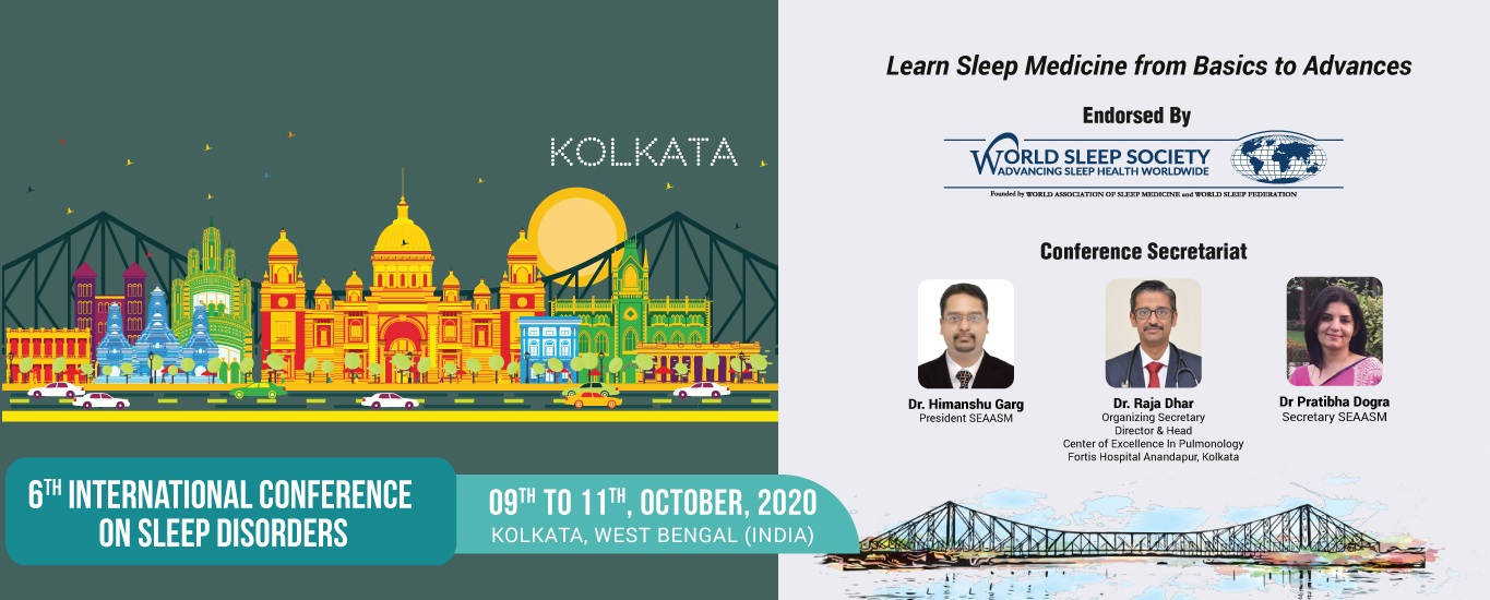 6th Conference of South East Asian Academy of Sleep Medicine 2020 at Kolkata, West Bengal, India
